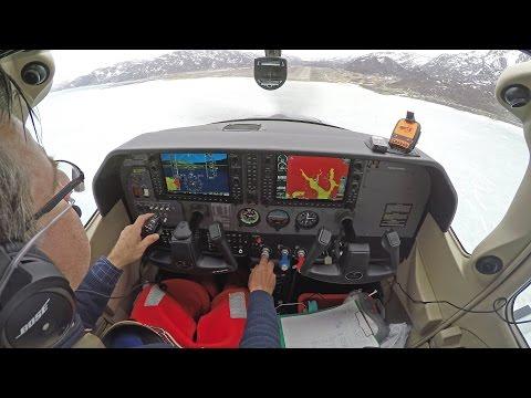 Ferry flight USA to Germany - C182T landing at Narsasuaq (BGBW) 4K !