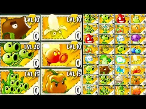 TOP 10 Plants in Plants vs Zombies 2 All Premium and Free Plants Challenge MOD for 0 Sun Cost MAX