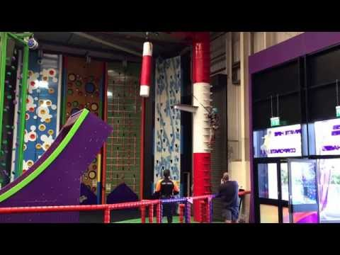 Velocity Trampoline Park Wigan - Clip 'n' Climb Leap of Faith