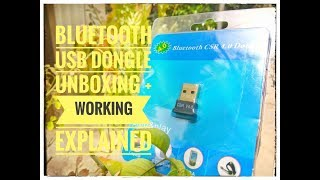 USB Dongle Bluetooth Receiver for PC eErlik CSR 4.0 Unboxing+Specification+Working