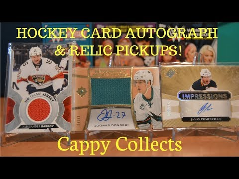 Random Hockey Card Autograph & Relic Pickups! SABRES & SHARKS!