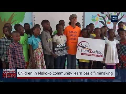 Children in Makoko community learn basic filmmaking