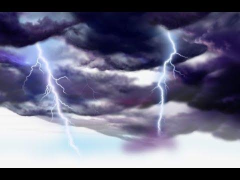 ساعة من اصوت المطر والرعد والبرق فى الظلام لتهدئة الاعصاب Rain Sound And Thunder And Lightning Youtube