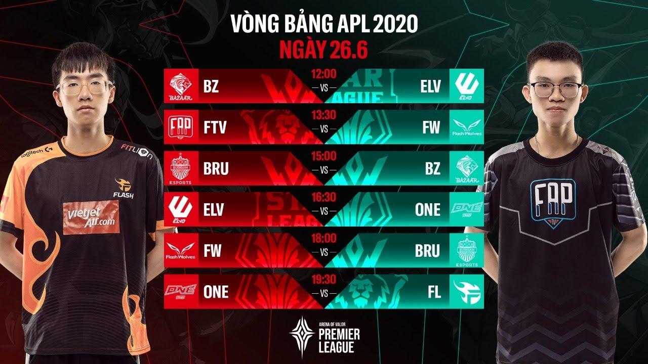 VÒNG BẢNG APL 2020 - BẢNG B NGÀY 6 | Team Flash và FAPtv chia điểm với Đài Bắc Trung Hoa