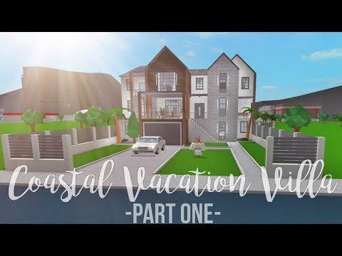 Bloxburg: Coastal Vacation Villa 180K (Part 1)
