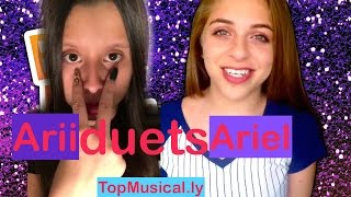 The Best Baby Ariel and theylovearii duets  musical.ly app Compilation 2016