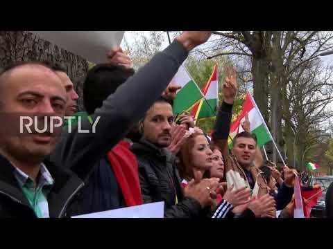 Germany: Kurdish protesters decry Iran's alleged involvement in seizure of Kirkuk