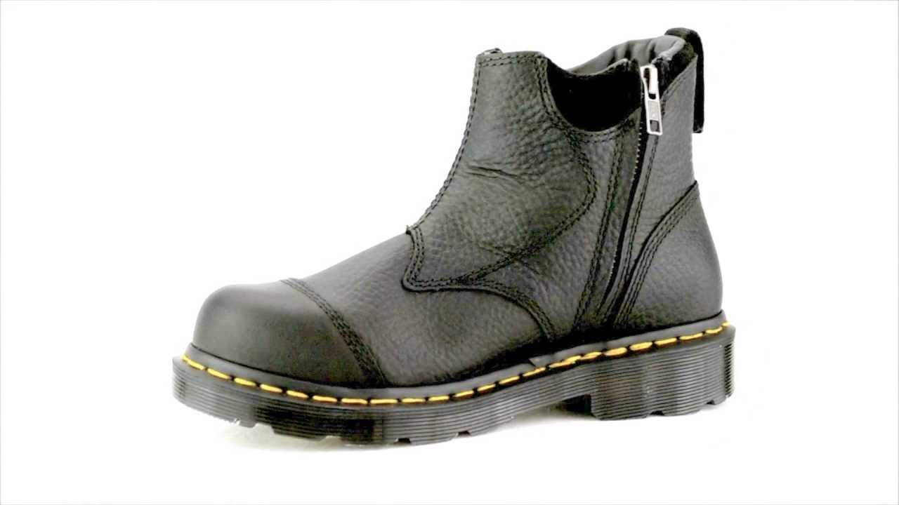Women's Dr Martens R12780001 Steel Toe Slip On Side Zipper Work ...