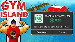 How to Play Gym Island for FREE!! - Roblox