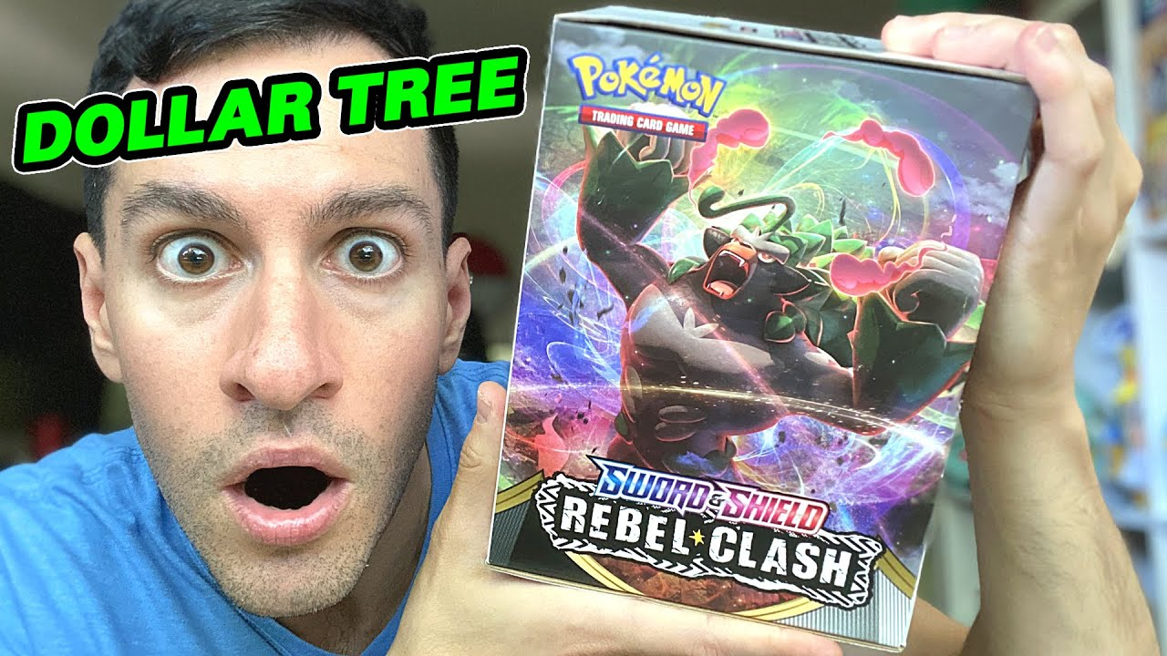ENTIRE BOX OF DOLLAR TREE NEW POKEMON CARDS!* Opening REBEL CLASH Booster  Packs! - YouTube