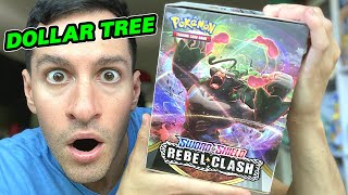 *ENTIRE BOX OF DOLLAR TREE NEW POKEMON CARDS!* Opening REBEL CLASH Booster Packs!