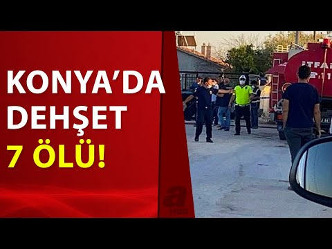 Konya'da katliam! Eve