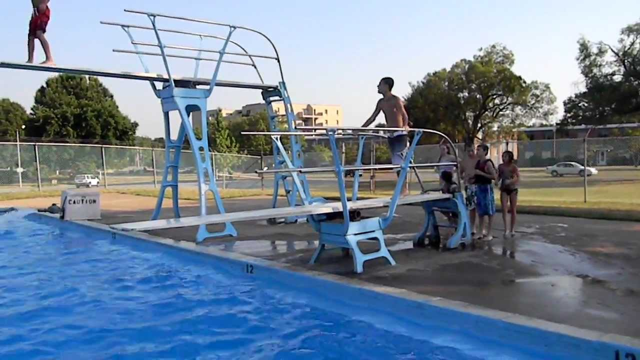 The Kids Jumping Off Diving Board