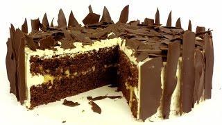 Торт шоколадно-карамельный. Подробный видео рецепт.