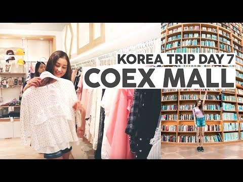 Korea Trip 2017 Day 7⎮COEX Mall, Hongdae & Gangnam Underground Shopping