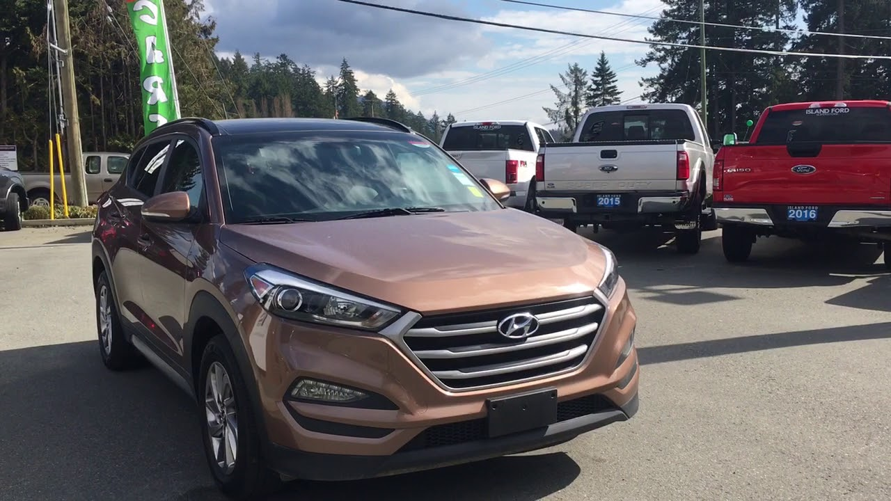 2017 Hyundai Tucson Limited W Leather Moonroof Awd Review Island Ford