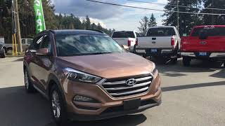 Brown 2017 Hyundai Tucson Limited, Leather,  Moonroof,  AWD Review   - Island Ford