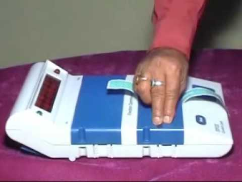 Electronic Voting Machine Election 2009 India EVM Paper seal Animesh Looks India Election 2009.