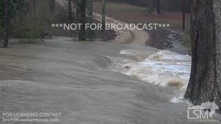 2 20 19 Mendenhall, MS Flash Flood Washes Out Roads Sends Belongings Down Stream Approaches Homes