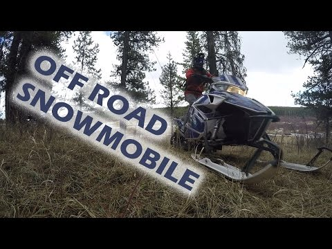 OFF ROAD Snowmobiling!