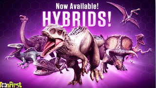 New Hybrids Dinosaurs PreView - Gameplay | Jurassic World The Game