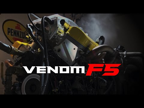 "1817 HP Venom F5 Engine Named ""FURY"" Dyno Testing"