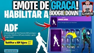 Fortnite-HOW to PICK UP DANCE FREE Boogie Down and two factor authentication