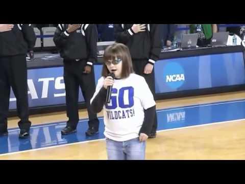 Inspiring Girl Sings U.S. National Anthem