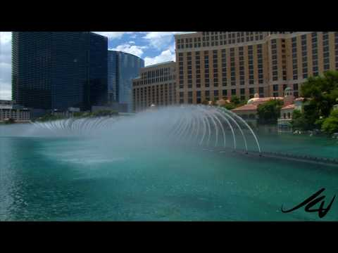 The Fountains of Bellagio, Las Vegas - cost $40 million to build, 22 million gallons of water - Yo
