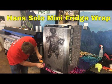 Hans Solo How To Wrap A Mini Fridge Rm wraps - YouTube