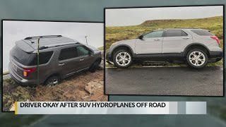 Floodwaters sweep Union County driver off the road