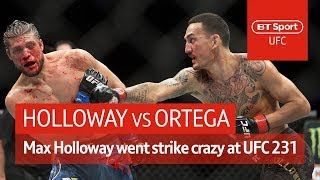 Max Holloway vs Brian Ortega (UFC 231 highlights) | One of the craziest fights in UFC history