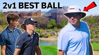 Crazy 2v1 Best Ball Against PGA Tour Pro Joel Dahmen!