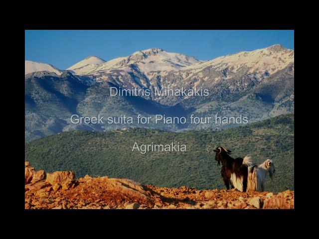 dimitris minakakis.GreekSuita for Piano 4 hands Agrimakia