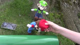 Super Mario Plush Land: The pipe.