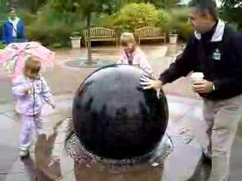 moving the big marble ball - YouTube