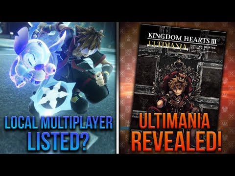 Kingdom Hearts 3 Ultimania Revealed! Local Multiplayer Listed? Jump Festa