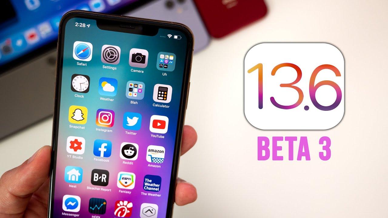 Ios 13.6 Beta 3