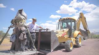 自由雕塑公园公园坦克人雕塑制造工程 1