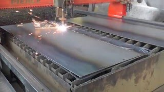 Plasma cutting steel