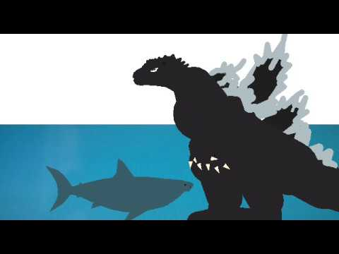 godzilla vs megalodon - YouTube