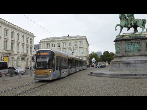 Trams in Brussels, Belgium 2015