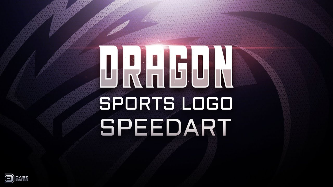 Dragon Sports Logo | eSports Logo | SpeedArt TalkThrough