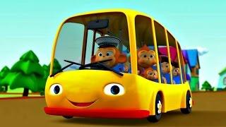 Детская песенка про автобус. Мультфильм для малышей. Колеса у автобуса.