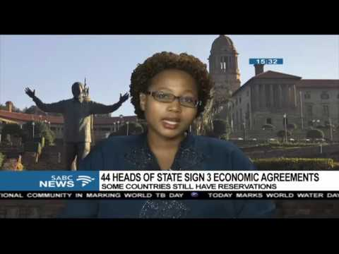 Signing of the African free-trade deal - Xolelwa Mlumbi-Peter
