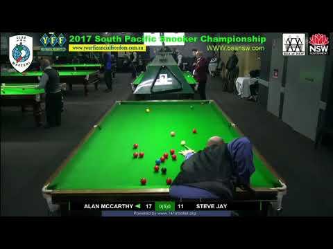 Alan McCarthy Vs Steve Jay 2017 South Pacific Snooker Championship