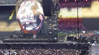 LYVES live, Visons, Darkest Hours, opening for Coldplay San Siro Milano 4 July 2017