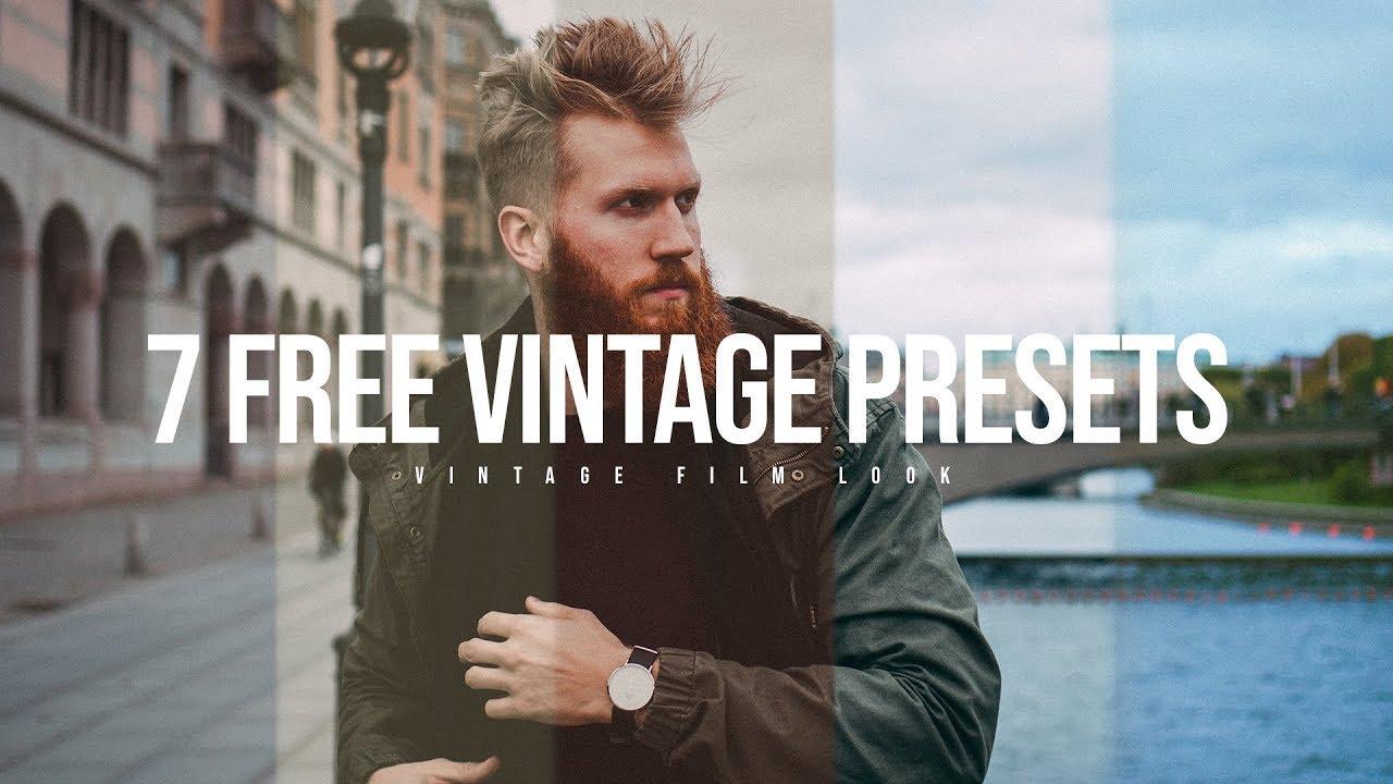 7 Free Vintage Lightroom Presets   Film Look Preset Pack