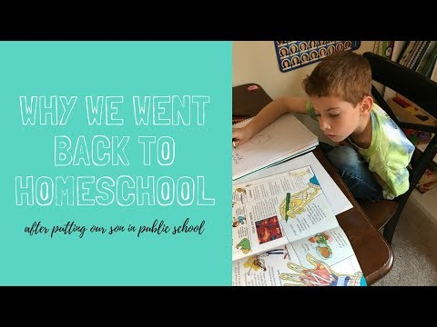 Why We Pulled Our Son Out of Public School and Went Back to Homeschool