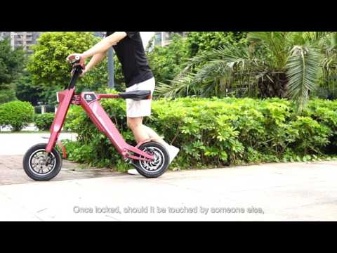 Automatic Smart Folding Electric Scooter AK-1 Chanson Shenzhen